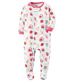 Carter's® Girls' One Piece Fleece Sweet Treats Sleeper