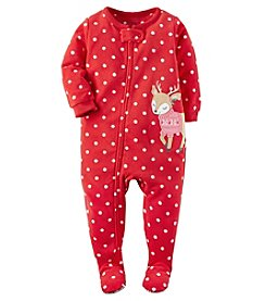 Carter's® Girls' One Piece Reindeer Sleeper