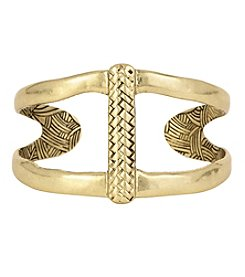 The Sak® Goldtone Woven Open Cuff Bracelet
