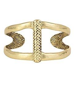 The Sak® Goldtone Woven Open Cuff Bracelet