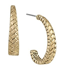 The Sak® Goldtone Basketweave Hoop Earrings