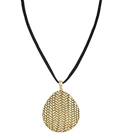 The Sak® Goldtone Basketweave Pendant Necklace