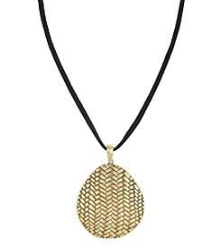 The Sak® Goldtone Basketweave Pendant Necklace
