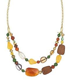 The Sak® Goldtone Double Layered Beaded Necklace