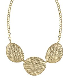 The Sak® Goldtone Basketweave Frontal Necklace
