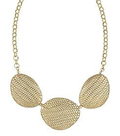 The Sak® Goldtone Basketweave Frontal Necklace
