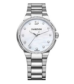 Swarovski® Women's Silvertone City White Bracelet Watch