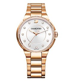 Swarovski® Women's Rose Goldtone City Bracelet Watch