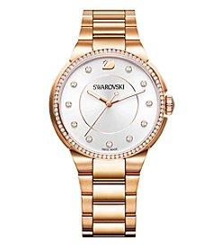 Swarovski® Women's Rose Goldtone City Bracelet Watch