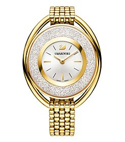 Swarovski® Women's Goldtone Crystalline Oval Bracelet Watch