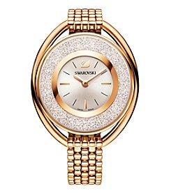 Swarovski® Women's Rose Goldtone Crystalline Oval Bracelet Watch