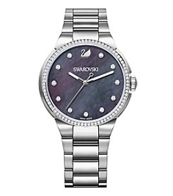 Swarovski® Women's Silvertone City Grey Bracelet Watch