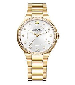 Swarovski® Women's Yellow Goldtone City Bracelet Watch