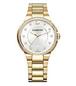 Swarovski® Women's Yellow Goldtone City Bracelet Watch