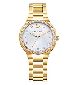 Swarovski® Women's Goldtone City Mini Bracelet Watch