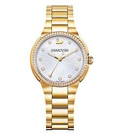 Swarovski® Women's Goldtone City Mini Bracelet Watch