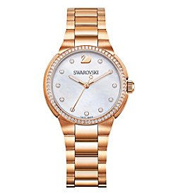 Swarovski® Women's Rose Goldtone City Mini Bracelet Watch