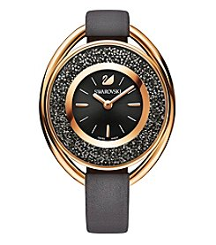 Swarovski® Women's Rose Goldtone Crystalline Oval Grey Watch