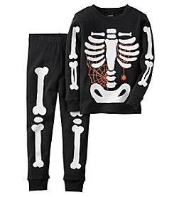 Carter's® Boys' 12M-8 2-Piece Skeleton Pajama Set