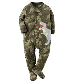 Carter's® Boys' One Piece Fleece Dino Camo Sleeper