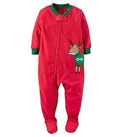 Carter's® Boys' Fleece One Piece Reindeer Sleeper