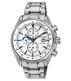 Citizen® Eco-Drive Men's HTM Stainless Steel Chronograph Watch