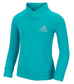 adidas® Girls' 2T-6X Long Sleeve Performance Pullover Sweater