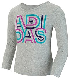 adidas® Girls' 2T-6X Long Sleeve Graphic Tee
