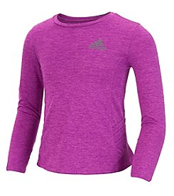 adidas® Girls' 2T-6X Long Sleeve Clima Peplum Top