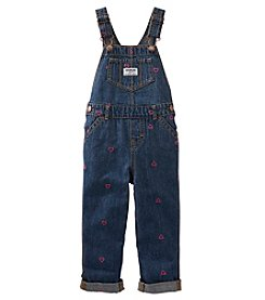 OshKosh B'Gosh® Girls' 2T-4T Heart Schiffli Overalls