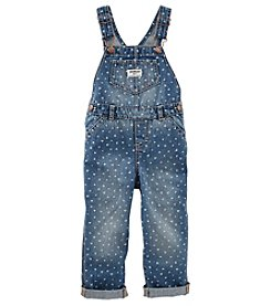 OshKosh B'Gosh® Girls' 2T-4T Heart Printed Overalls