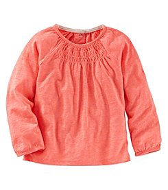 OshKosh B'Gosh® Girls' 2T-4T Long Sleeve Smocked Tee