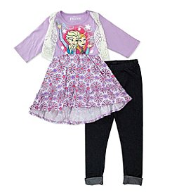 Disney® Girls' 2T-6X 3-Piece Frozen High-Low Top Set
