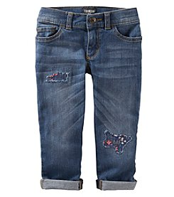 OshKosh B'Gosh® Girls' 2T-6X Cuffed Patchwork Jeans