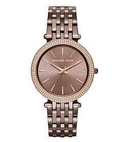 Michael Kors® Women's Darci Sable Tone Three Hand Watch