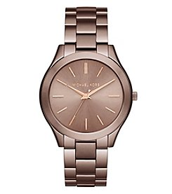 Michael Kors® Women's Slim Runway Sable Tone Three Hand Watch