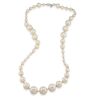 Carolee® Silvertone And Simulated Pearl Graduated Strand Necklace