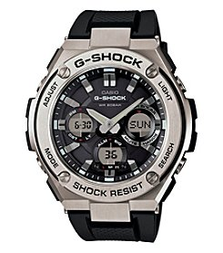 G-Shock® Men's Silvertone G-Steel Solar Powered Ana-Digi Watch