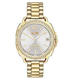 COACH WOMEN'S TATUM GOLDTONE SUNRAY DIAL SET BRACELET WATCH