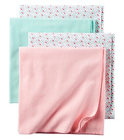 Carter's® Baby Girls' 4-Pack Geo Receiving Blankets