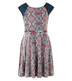 Speechless® Girls' 7-16 Belted Floral Dress