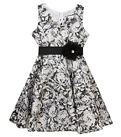 Rare Editions® Girls' 7-16 Floral Fit And Flare Dress