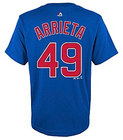 Majestic Boys' 8-20 MLB® Cubs Jake Arrieta Player Short Sleeve Tee