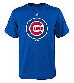 Majestic® Boys' 8-20 MLB® Cubs Logo Short Sleeve Tee