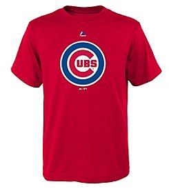 Majestic Boys' 8-20 MLB® Cubs Logo Short Sleeve Tee