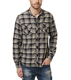 Buffalo by David Bitton Men's Sampir Check Long Sleeve Button Down Shirt