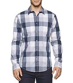 Calvin Klein Jeans® Men's Long Sleeve Buffalo Plaid Button Down Shirt