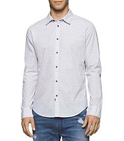 Calvin Klein Jeans® Men's Long Sleeve Lipstick Print Button Down Shirt