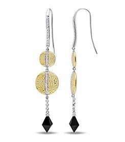 V1969 ITALIA Black Onyx and White Sapphire Moonlight Drop Earrings