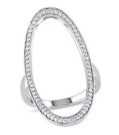 V1969 ITALIA White Sapphire Geometric Ring